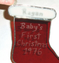 Engraved Red Stocking--Close up