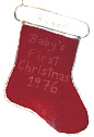 Engraved Red Stocking