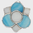 Medieval 3 Petal Flower-blue with white center