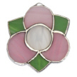 Medieval 3 Petal Flower-pink with white center