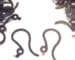 Jet Black/Dark Black Plastic French Hooks, Plastic French Hooks/Ear Wires