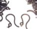 Jet Black/Dark Black Plastic French Hooks, Plastic French Hooks/Ear Wires