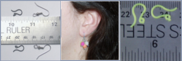 Click to see size comparison to traditional earrings